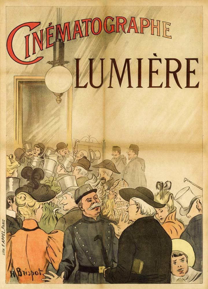Imagen facilitada por Sotheby's del primer cartel, realizado en 1895, para promocionar el cine de los hermanos Lumière. EFE
