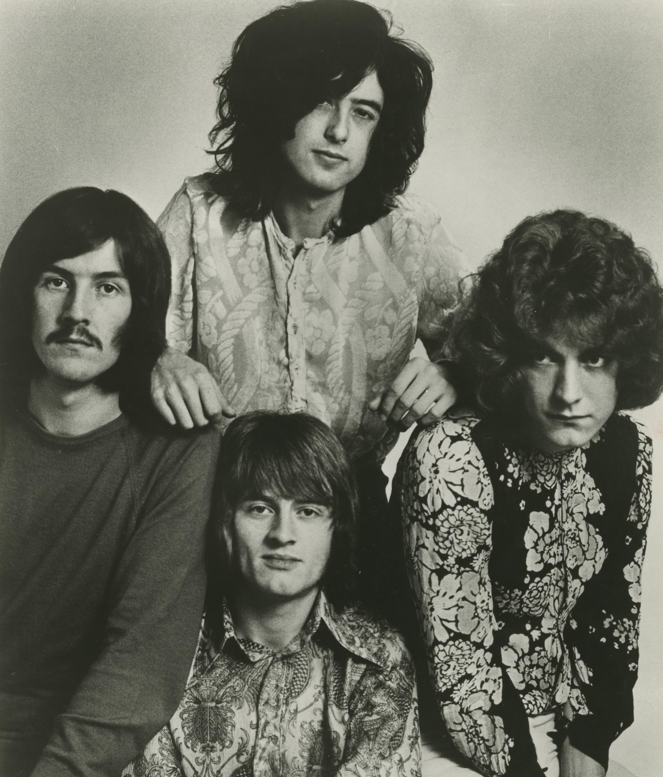 La banda. John Bonhan, Robert Plant, Jimmy Page y John Paul Jones