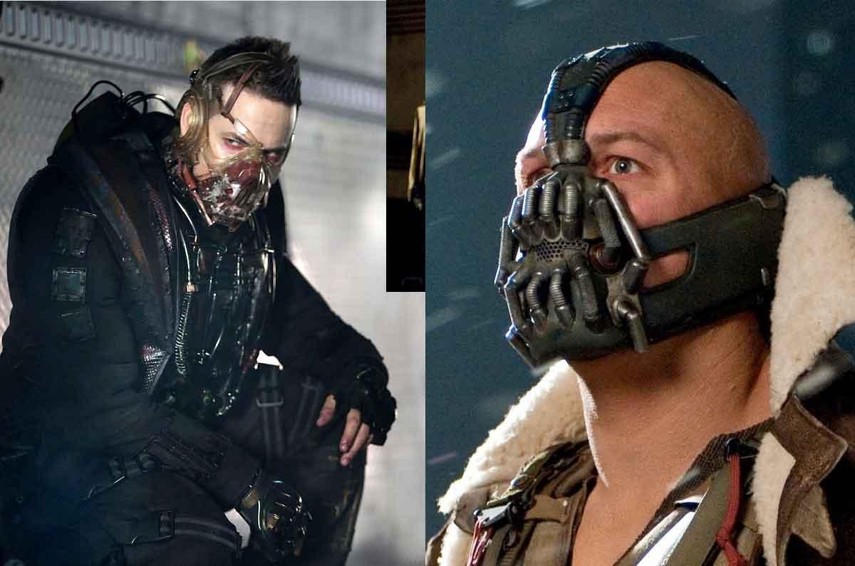 Izquierda Bane de Gotham a la derecha Bane de The dark knight