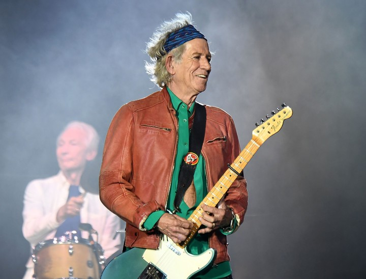 Keith Richards y el porqué de tanta transfusiones. Foto: Boris Horvat/AFP