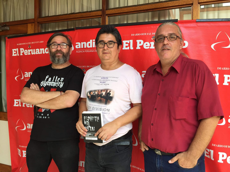 Jose Ignacio Lopez Ramírez-Gastón, Fidel Gutiérrez y Giuseppe Risica Carella en Agencia de Noticias Andina.