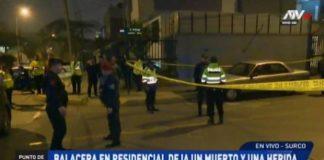 Una mujer muere baleada por delincuentes en Surco