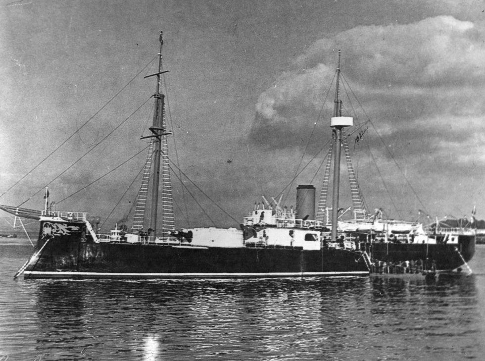 El glorioso monitor Huáscar en el puerto de Talcahuano en Chile. (Foto: Archivo)
