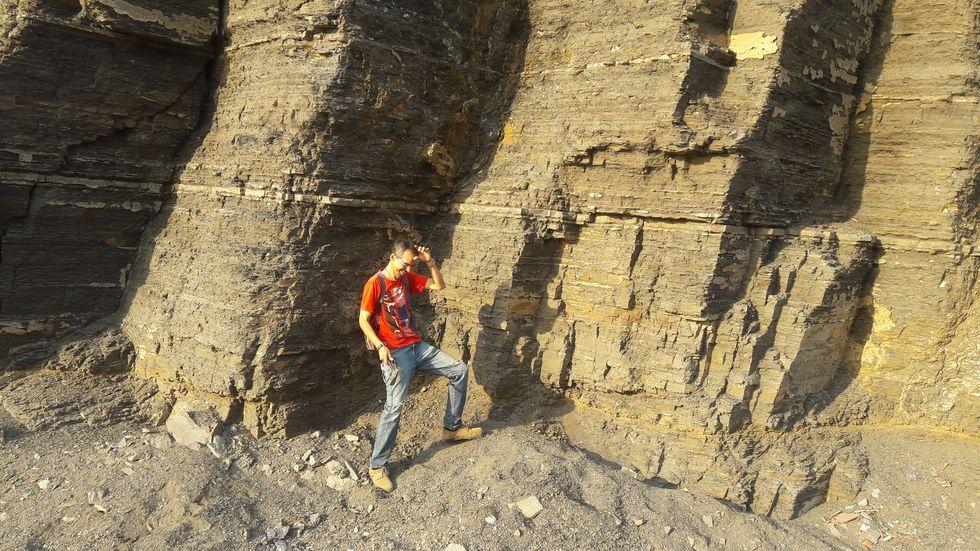 El biólogo Iván Meza-Vélez en la zona donde se realizó el hallazgo. (Foto: Cortesía / El Comercio)