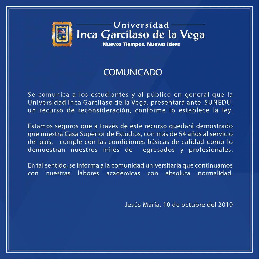 (Foto: Universidad Garcilaso de la Vega)