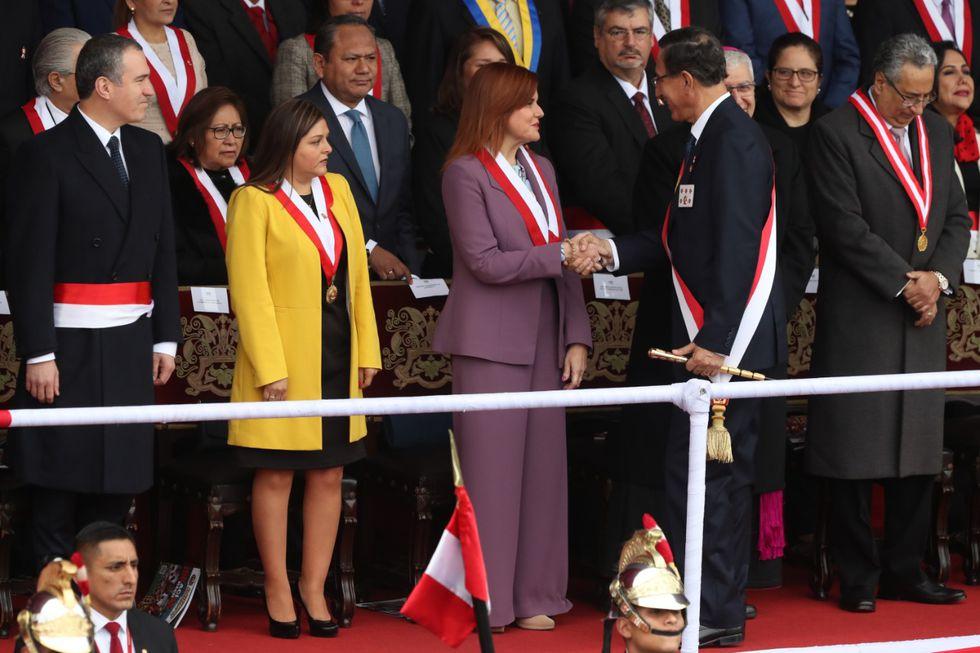 Vizcarra discrepa de las acciones políticas y legales que tomó la vicepresidenta Mercedes Araoz. (Foto: Rolly Reyna / El Comercio)Rolly Reyna (nombre del dueño)