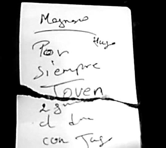 Letra clave. Manuscrito de Donayre que delató su ubicación.