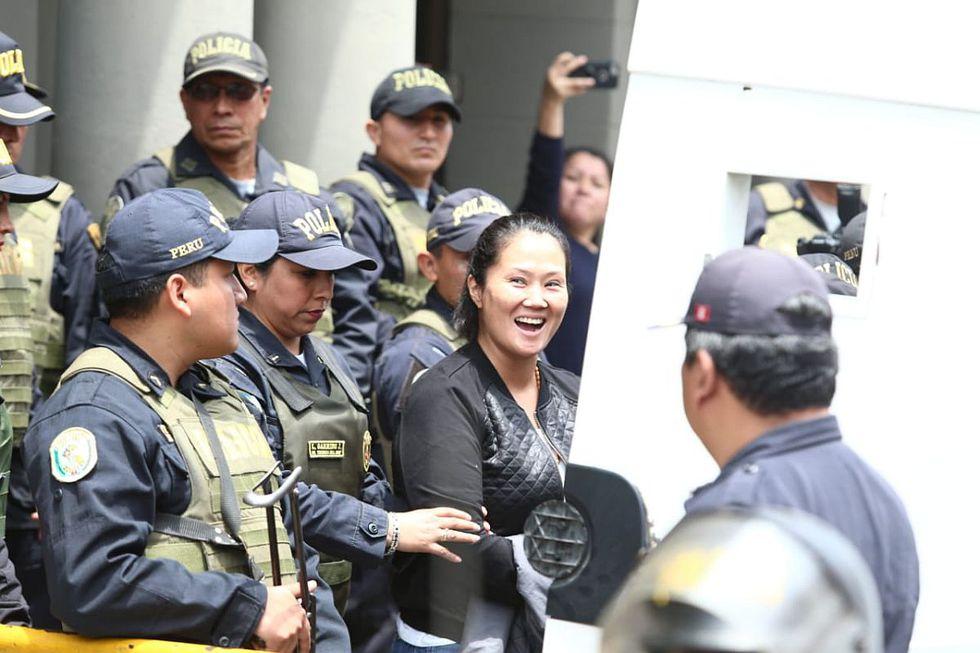 Keiko Fujimori, lideresa de Fuerza Popular, fue traslada al penal de Mujeres de Chorrillos el 1 de noviembre de 2018. (Foto: Alessandro Currarino/ El Comercio)