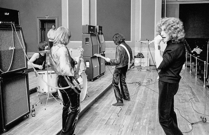 Una prueba de sonido de Led Zeppelin 14 de marzo de 1969. Foto: Facebook Led Zeppelin